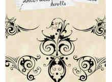 漂亮高贵的植物花纹系列photoshop笔刷素材 #.1