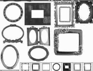 18种相框、画框、镜框photoshop笔刷素材下载