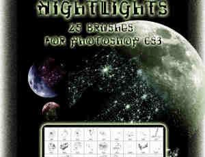 25种星系星空、宇宙银河photoshop笔刷素材