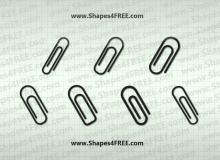 办公用品回形针、别针photoshop自定义形状素材 .csh 下载