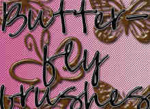 蝴蝶纹饰、纹饰图案photoshop笔刷素材下载
