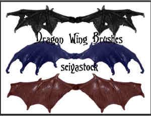 恶魔龙的翅膀photoshop笔刷素材