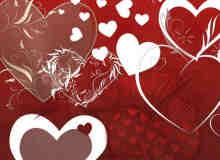 婚礼可用爱心背景装饰photoshop笔刷素材