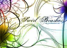 漂亮的高清艺术线条花纹photoshop笔刷素材下载