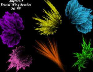 酷酷的光影分形翅膀photoshop笔刷素材#.9