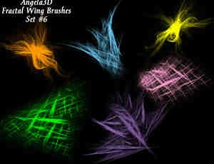 酷酷的光影分形翅膀photoshop笔刷素材#.6