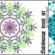 漂亮的七彩万花筒图案photoshop笔刷素材下载