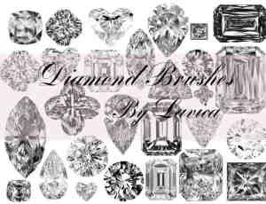 真实的宝石、钻石、珠宝首饰photoshop笔刷素材 #.2