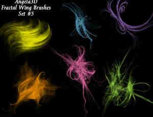 酷酷的光影分形翅膀photoshop笔刷素材#.5
