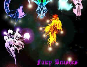 幽灵、天使、仙女、妖精photoshop笔刷素材下载
