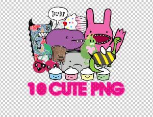 10种可爱的卡通小怪兽美图秀秀png素材包免费下载