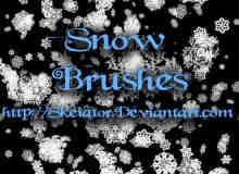 不同种类样式的雪花花纹图案photoshop笔刷 #.4