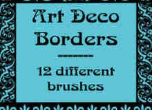 简单的艺术花纹、边框花纹Photoshop笔刷