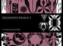 Photoshop CS3 设计植物花纹图案装饰包笔刷下载