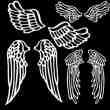 手绘式卡通天使翅膀线描画photoshop笔刷素材