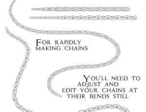 手绘锁链、链子、链条photoshop笔刷下载