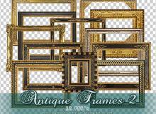 12种古典式相框、画框美图秀秀png素材包下载 #.2
