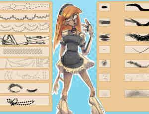 高品质全套CG人物画像PS笔刷素材下载