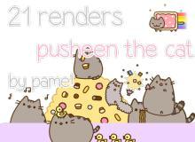 呆萌卡通猫咪PNG透明图片美图秀秀素材包 #.5