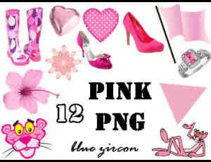 粉色高跟鞋、雨鞋、爱心、钻戒、三角等美图秀秀素材包笔刷下载