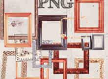 已扣图!美图秀秀照片相框素材PNG笔刷包