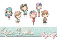 可爱卡通小女孩图案美图秀秀PNG透明素材包