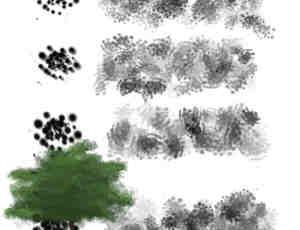 CG植物树叶绘画Photoshop笔刷素材