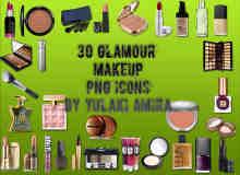 30种睫毛刷、唇膏、化妆盒、粉底盒等化妆品美图秀秀素材包下载 #.2