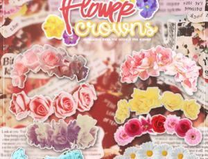 漂亮的鲜花花环png透明格式无需在抠图版美图秀素材