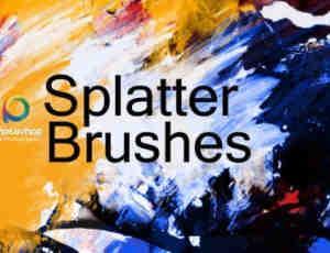 高清油漆涂抹刷子Photoshop笔刷素材
