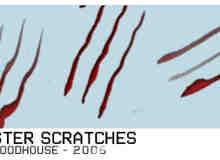 怪物抓痕、血爪Photoshop笔刷素材