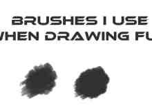 免费简单的CG画笔PS刷子素材