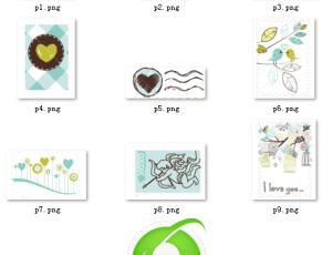 小清新邮票、书信元素之【美图秀秀素材包】