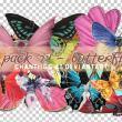 已扣图!漂亮的七彩蝴蝶图片【美图秀秀素材包】