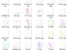超级卡哇伊荧光图案【美图秀秀素材笔刷包】免费下载 #.4