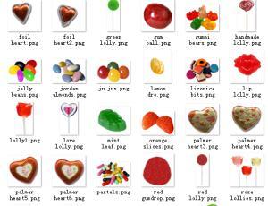 已扣背景!爱心糖果、巧克力图片素材【美图秀秀素材包】
