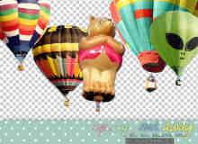 已扣图!热气球图片素材【美图秀秀笔刷包】