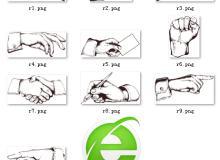 各种手势指示标记【美图秀秀素材】