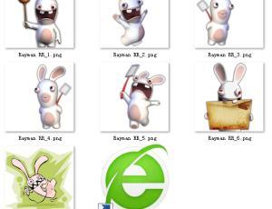 已扣背景!可爱的大萌芽兔子素材【美图秀秀笔刷包】