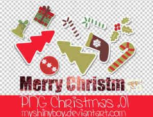 可爱卡通圣诞节装扮图像【美图秀秀素材包】