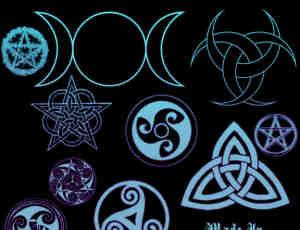 危险符号、魔法阵符号、红新月符号、民族古典符号等Photoshop笔刷