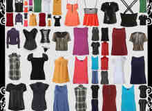 55种时尚女式服装、衬衫、连衣裙、吊带衫等PNG图片素材【美图秀秀素材包】