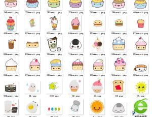 90个卡通蛋糕、冰欺凌、汉堡包等可爱食品【美图素材】