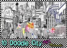 手绘都市城市PNG透明图片【美图秀秀素材包】