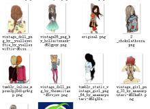 时尚非主流小女孩卡通造型【美图秀秀素材】