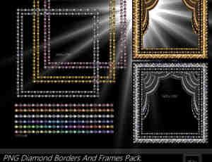 帘珠相框、分割线素材【美图秀秀笔刷包】