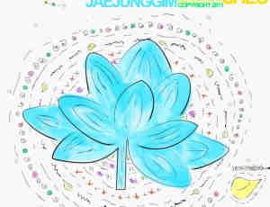 漂亮的手绘莲花、荷花图案Photoshop笔刷素材