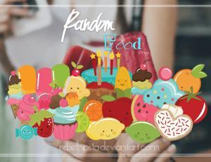 呆萌可爱卡通水果、蛋糕、布丁等【美图秀秀笔刷包】