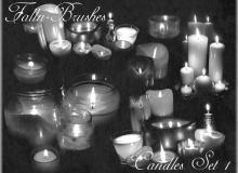 蜡烛、烛火、烛光、祈福等Photoshop笔刷