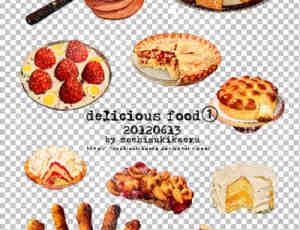 蛋糕、匹萨、烤肠、派等食物素材【美图秀素材吧】